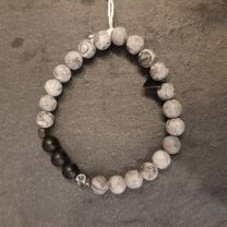 Bracelet jaspe, onyx de Rosekafe