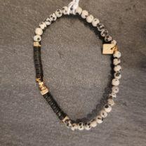 Bracelet  jaspe dalmatien de Rosekafe