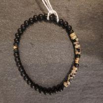 Bracelet onyx et jaspe dalmatien de Rosekafe