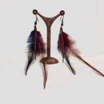 boucles d'oreilles plume de Tungstene