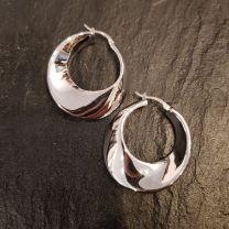 Boucles d'oreilles argent rodhié de Clio Blue