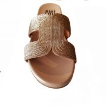 Chaussures plates nude Bibi Lou