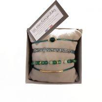 Bracelet vert et doré Les Interchangeables