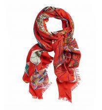 Echarpe Gilda rouge Storiatipic