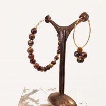 Boucles d'oreilles perles de Rosekafé