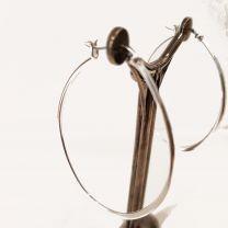 Boucles d'oreilles créoles ovales Argent de Clio Blue