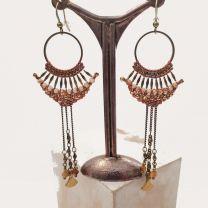 Boucles d'oreilles namibia de Tungstène