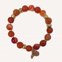 Bracelet havana rouge de Tungstène